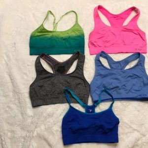 5 small Champion Old Navy workout bras